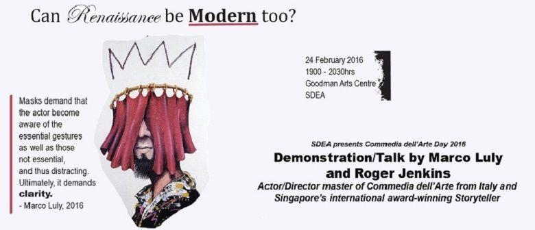 Demonstration/Talk: Commedia Art'Delle Day 2016