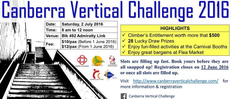 Canberra Vertical Challenge 2016