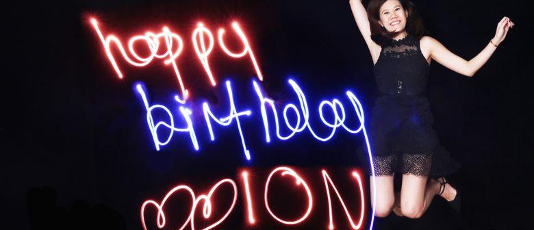 8th Anniversary Celebration With Light Graffiti