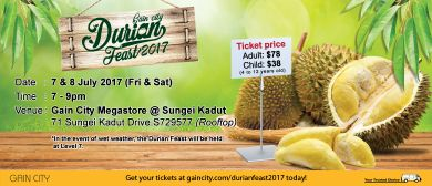 Gain City Durian Feast 2017