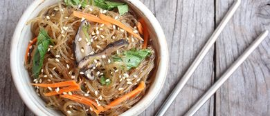Korean Japchae Cooking Class By Chicken Up