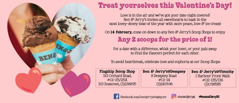 Valentine's Day 2-for-1 Ben & Jerry's Scoop