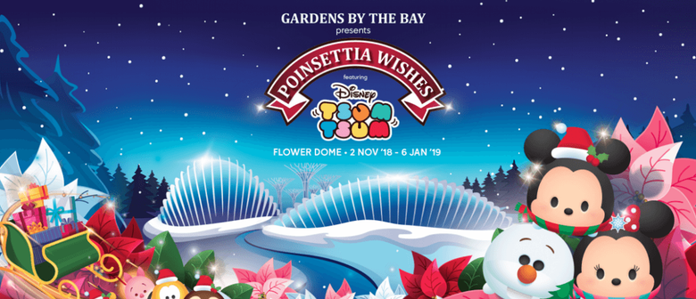 Poinsettia Wishes Featuring Disney Tsum Tsum: Floral Display