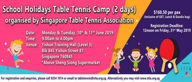 STTA June Holidays Table Tennis Camp