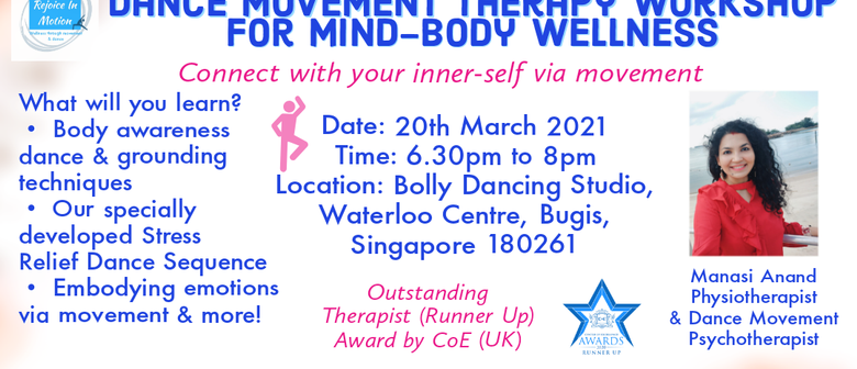 Dance Movement Therapy Workshop For Mind-Body Wellness